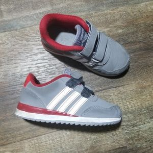 Adidas Gray Red Toddler Boy Shoes 7